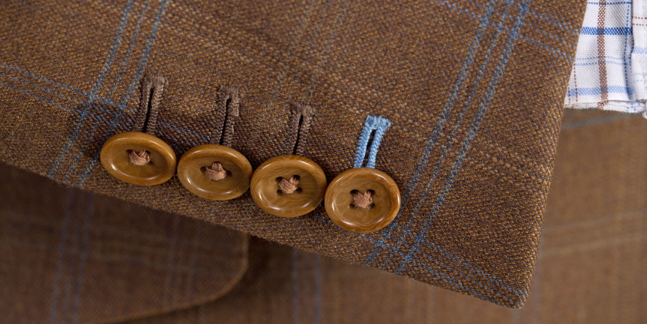 Buttons on a jacket - men fashion